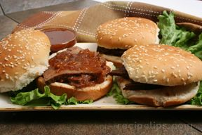 marinated beef on a bun Recipe