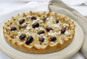 French Onion and Olive Tart