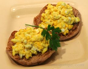 Open Faced Egg Salad Sandwich Recipe