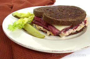Rueben on Rye Sandwich