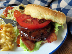 Sauced Barbecue Burgers
