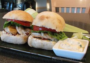 Scallop Sliders with Cilantro-Lime Mayonnaise