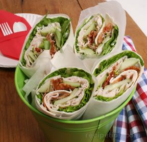 Turkey and Bacon WrapsnbspRecipe