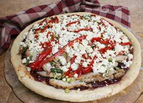 Turkey Cranberry and Feta Pizza