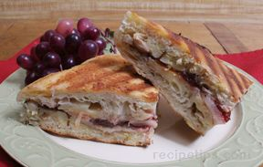 Turkey Panini with Cranberry and Pears