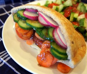 vegetable pita sandwich Recipe
