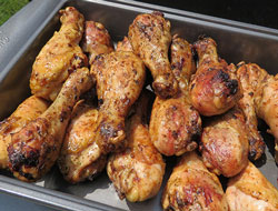 Buttery Grilled Chicken Legs