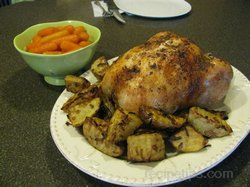 Buttery Roasted Chicken Recipe