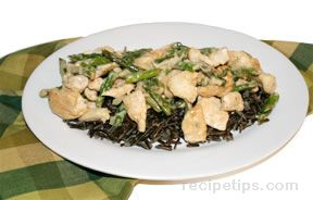 wild rice chicken and asparagus salad Recipe