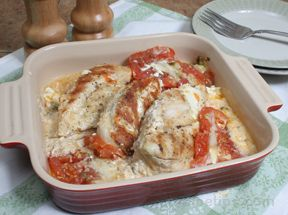 Chicken Breasts with Tomatoes and Sour Cream Recipe