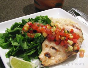 grilled chicken with pineapple salsa Recipe