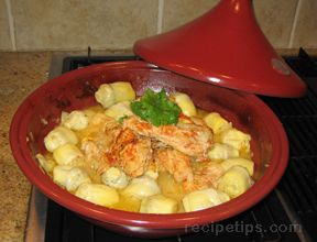 chicken tagine with artichoke hearts Recipe