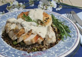 Chicken Breasts with Creamy Tarragon Mushroom Sauce Recipe