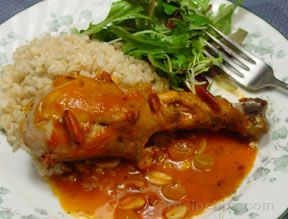 chicken in tarragon-tomato sauce Recipe