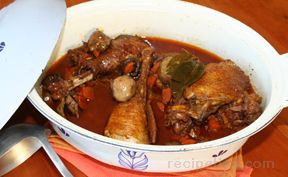 Coq au Vin  Chicken in wine sauce