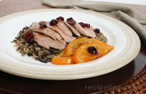 Roasted Breast of Duck with Orange Cranberry Sauce