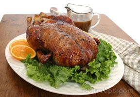 Roasted Duckling with Orange Marmalade Sauce