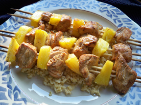 Dyno-mite Marinated Chicken Kabobs