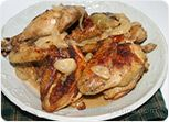 Chicken in Onion Wine Sauce Recipe
