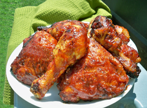 Grilled Barbecued Chicken Recipe