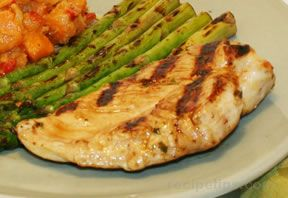 grilled brined chicken breasts with herbs Recipe
