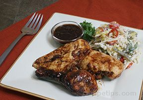 grilled chicken with balsamic barbecue sauce Recipe