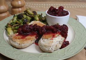 Chicken Breasts with Cranberry Balsamic Sauce