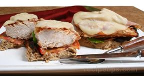 open faced grilled chicken sandwich Recipe