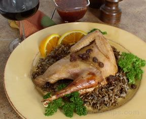 Pheasant Baked in Raisin Sauce