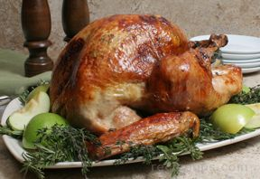 Rosemary Thyme and Apple Roasted Turkey Recipe