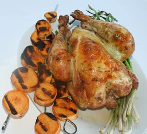 rotisserie chicken with herbs Recipe