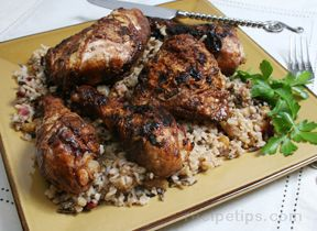 Spiced Grilled Chicken with Basmati Rice