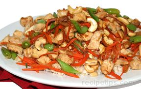 stir-fried chicken with vegetables and rice Recipe