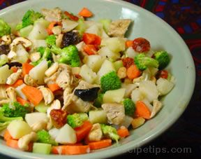 Chicken and Mixed Vegetable Salad Recipe