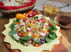chopped barbecue chicken salad Recipe