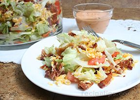 bacon lettuce and tomato salad Recipe