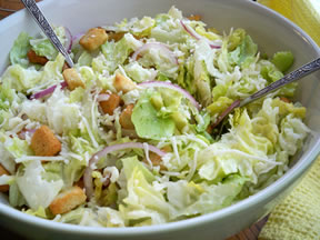 Caesar Salad and Garlic Dressing