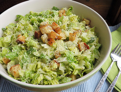 caesar salad with homemade croutons Recipe