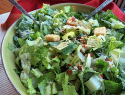 caesar salad with salad toppins Recipe