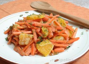 Carrot Orange Salad with Fresh Dill