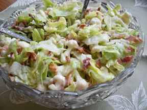 cauliflower lettuce salad Recipe