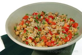 Five Minute Chickpea Salad Recipe