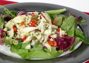 crab salad on greens Recipe