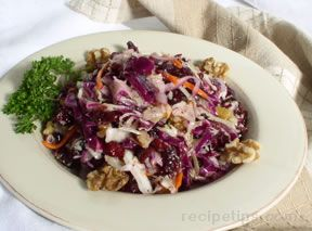 Coleslaw with Dried Cranberries