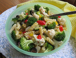 easy vegetable pasta salad Recipe