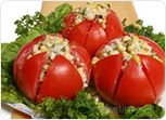 Spicy Corn Stuffed Tomato Salad Recipe
