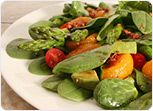 Spinach, Asparagus, Tomato and Orange Salad Recipe