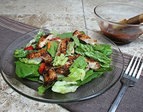 Grilled Fiesta Barbecued Chicken Salad