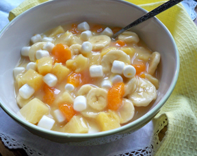 fruit salad with pineapple dressing Recipe