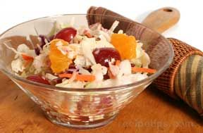 fruit slaw with vinegar and oil dressing Recipe